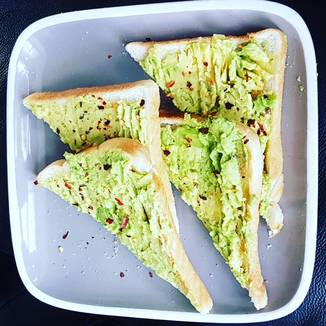 Crushed Avocado and Garlic Toast